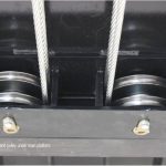 PH 9 4 post - Main pulley and heavy gauge cables under the runway
